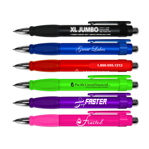 *XL Jumbo Retractable Pen with Rubber Grip