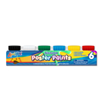 Set of 6 Washable Poster Paints with Brush