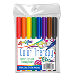Set of 8 Color Therapy® Felt Tip Adult Coloring Markers - Classic Colors