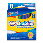 Set of 8 Washable Markers  - Assorted Colors - USA Made