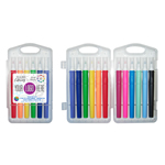 12 Pack of Hand Lettering Brush Markers in Hard Plastic Case - Full Color Decal