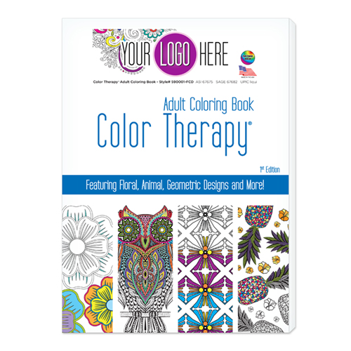 Color Therapy® 24 Page Adult Coloring Book - USA Made