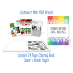 Custom 24 Page Adult Coloring Book - Cover + Inside Pages - USA Made