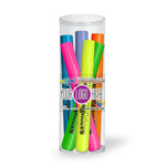 Broadline Fluorescent Highlighters- 6 Pack Tube Set With Full Color Decal