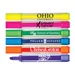 Brite Spots® Broad Tip Highlighters - Clear Barrel - USA Made