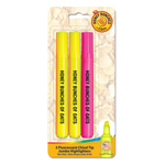 Brite Spots® Highlighters with Custom Blister Card - USA Made - 3 ct