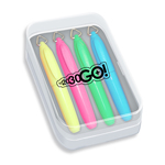 Mini Brite Spots® Highlighters in Clear Plastic Box - 4 ct