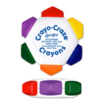 Crayo-Craze® 6 Color Crayon Wheel - White - Full Color Decal