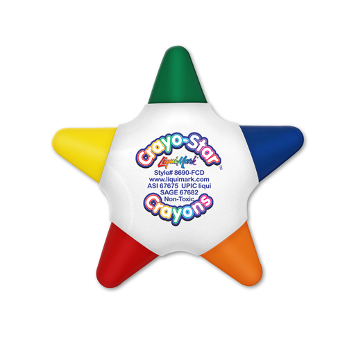 Crayo-Star™ 5 Color Crayon Star - Full Color Decal