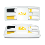 Dry Erase Gear Marker & Eraser Set with Black & Yellow Markers