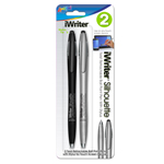 Pack of 2 iWriter Silhouette Ball Point Pens with Stylus